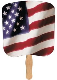 American Flag church fan