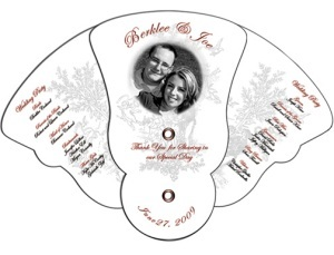 Curved Edge Expandable Wedding Fan