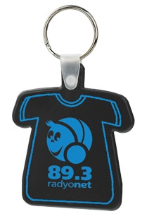 T-Shirt Key Fobs with Personalized Imprint
