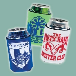 Everyone has seen these koozies or can coolers around for many years. The main purpose is to keep your can cool while your hands stay warm. A simple yet very effective invention. They can also be personalized with your custom logo or any text you want at a very affordable price.