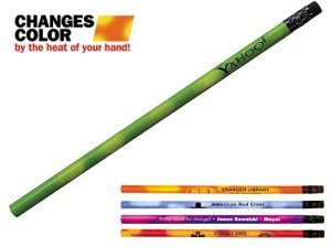 Mood Pencils with Black Erasers and Personalized Message