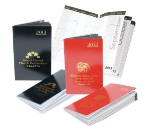 2013 Monthly Pocket Planners in Classic Colors with Imprint