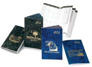 Custom 2013 Monthly Pocket Calendars in Marble Colors