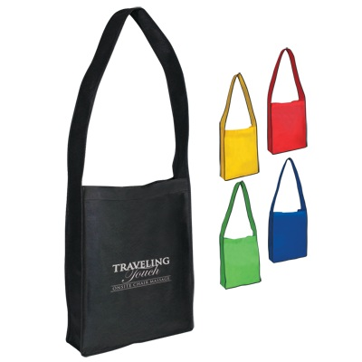 Personalized Non-Woven Messenger Tote With Velcro® Closure