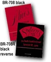 Black Reverse Match books with custom imprint