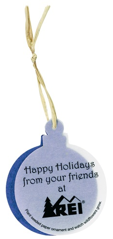 Promotional Christmas Products - Seeded Paper Christmas Ornaments