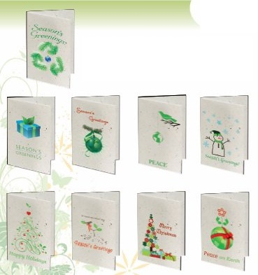 Seeded Paper Christmas Cards
