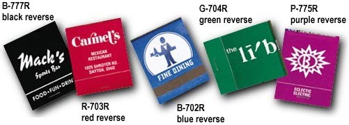 Personalized Matchbooks in Reverse Colors