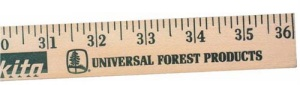 Clear Lacquer Finish Promotional Yardstick with Custom Imprint