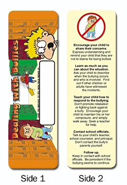 Custom Dealing with Bullies Bookmark