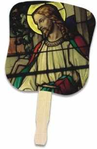 Jesus church hand fan