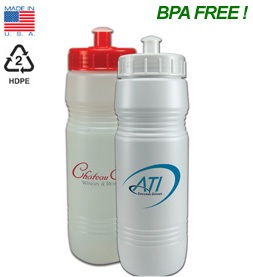 26 oz Value Sports Bottles with Push Pull Lids