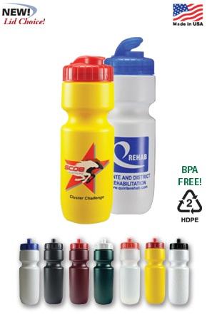 22 oz Bike Bottle with Flip Top Lid