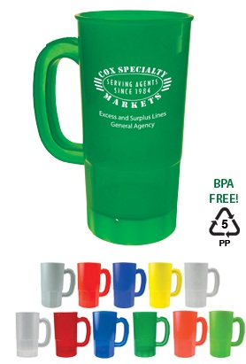 Personalized 22 oz Promotional Plastic Stein