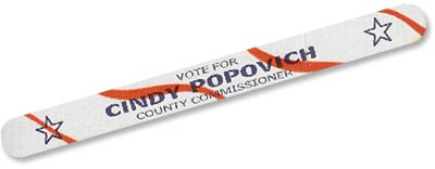 Promotional Emery Boards for Political Campaign