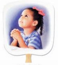Prayerful Inspirational Hand Fans