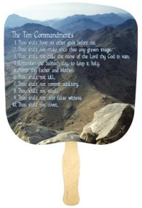 Ten Commandments Relgious Fans