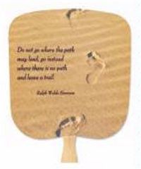 Trails in the Sand Inspirational Hand Fans
