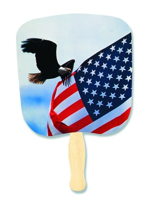 Eagle and Flag Patriotic Hand Fan