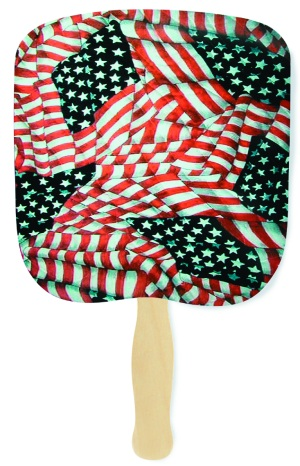 Quilted Glory Flag Patriotic Hand Fan