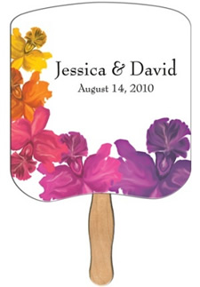 Wedding hand fans can be printed with your program and for Church fans template