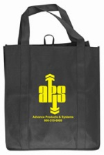 Black Custom Grocery Tote Bag