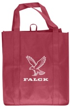 Maroon Grocery Tote Bag