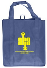Navy Promotional Grocery Tote Bag