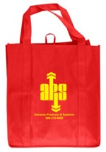 Red Personalized Grocery Tote Bag