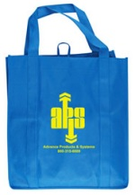 Royal Blue Custom Printed Grocery Tote Bag