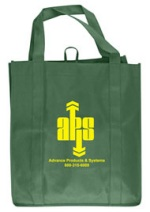 Custom Imprinted Spruce Green Grocery Tote Bag