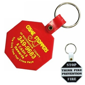 Octagon Shape Personalized Key Tag