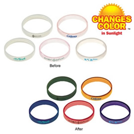 Sun Fun Bracelets change color with sunlight!