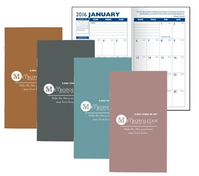 Metallic Cover Monthly Pocket Planner