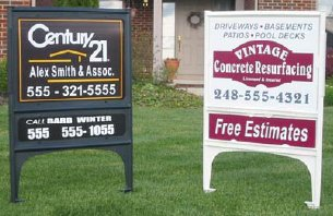 Real estate sign stand