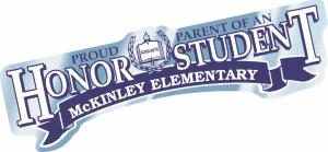 Proud Parent Honor Student Bumper Car Decal Stickers