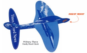 Military Penny Paper Airplanes