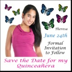 """3-1/4""""x 3-1/4"""" Square Corner Save the Date Magnet"""