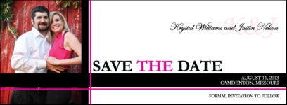 "2"" x 5-1/2"" Square Corner Save the Date Magnet"