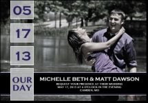 "4-7/8"" x 3-3/8"" Square Corner Save the Date Magnet"