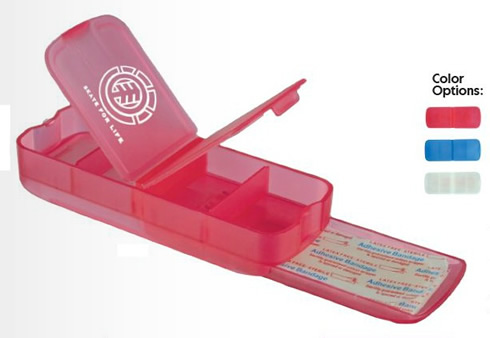 Promotional Pill Box and Bandage Dispensers