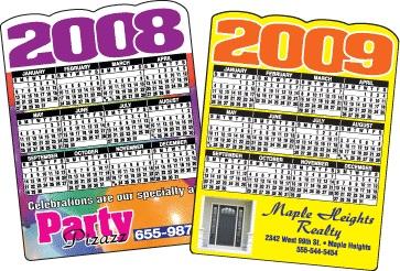 """Die Cut Calendar, 4-1/8""""x5-3/8"""""""