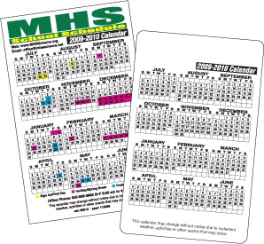 "At A Glance School Schedule Calendars, 3-1/2""x5-5/8"" Square or Round Corners"