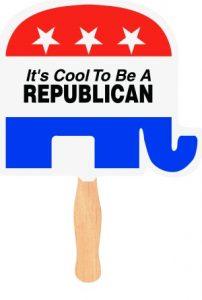 Republican Elephant Political Campaign Hand Fans