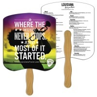 Full Color Digitally Printed Hand Fans