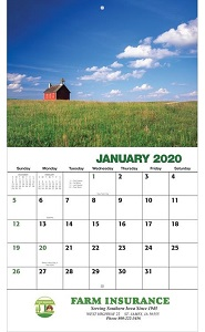 American Agriculture 2020 Wall Calendar