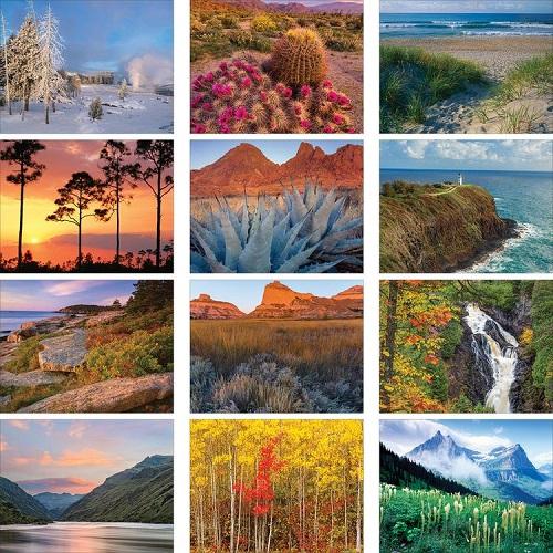 Monthly Scenes of American Scenic 2020 Calendar