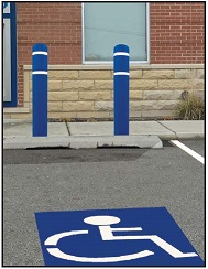 Bollard Covers for Handicap Parking