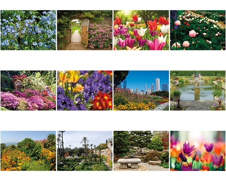 Monthly Scenes of Gardens 2020 Appointment Calendars