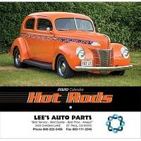 Hot Rods 2020 Calendar Cover